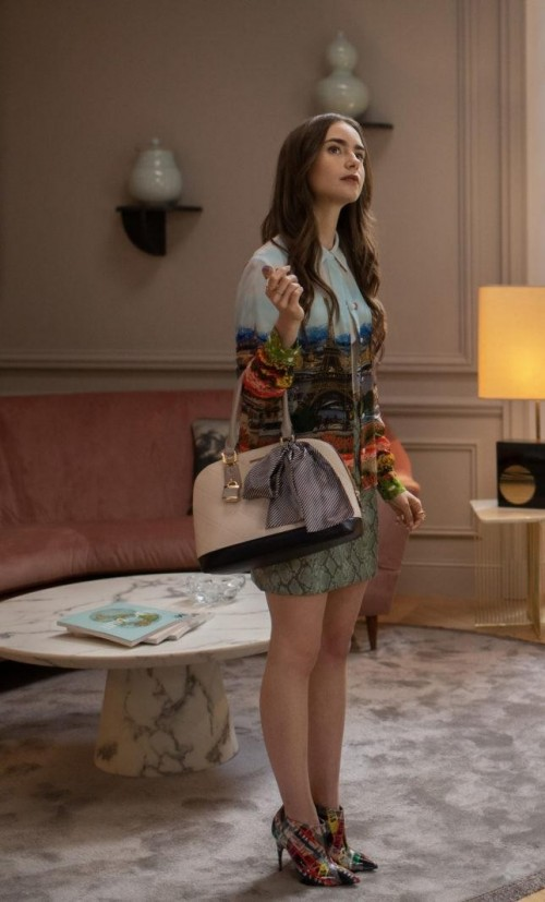Looking for a similar top handle bag online like Emily Cooper is carrying on the show - SeenIt