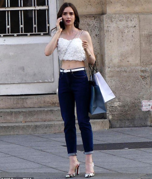 I'm looking for the same white crop top like emily in the tv show emily in paris. - SeenIt