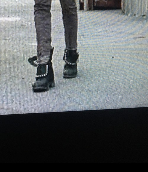 I'm looking for these leather biker boots with silver studs on them - SeenIt