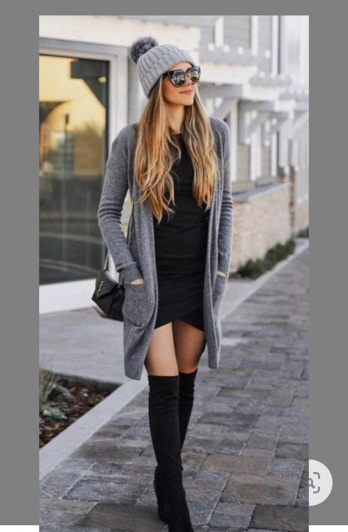 I'm looking for this complete outfit thigh high boots, shrug, head cap, side bag everything please please please - SeenIt