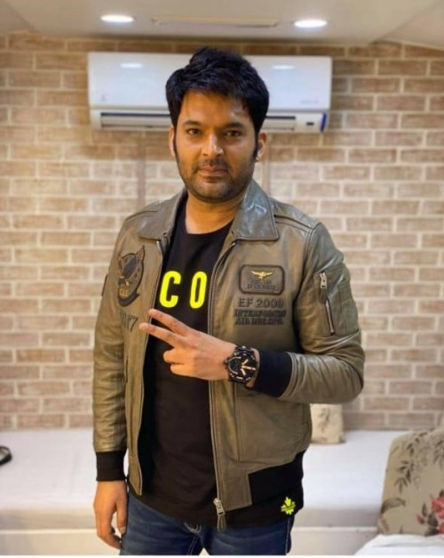 I am looking for similar color jacket Kapil Sharma wears in this image. - SeenIt