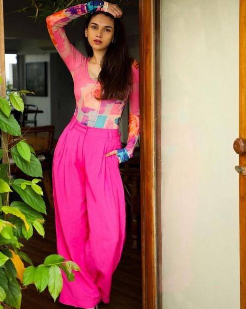 Yay or nay? Aditi Rai Hydari seen wearing a pink outfit recently - SeenIt