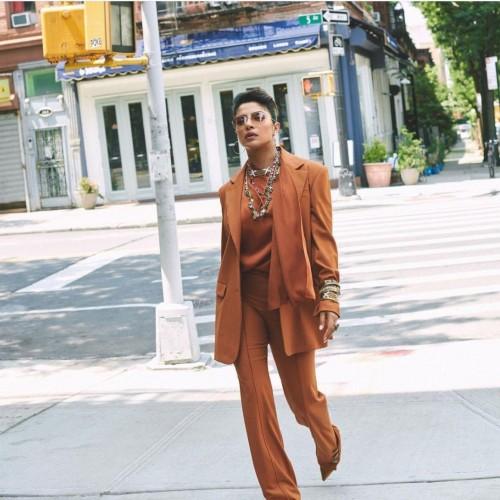 Yay or nay? Priyanka Chopra seen wearing a brown pantsuit recently - SeenIt