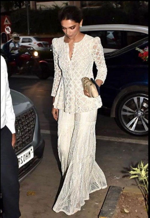Yay or nay? Deepika Padukone seen wearing a white outfit this year on diwali - SeenIt