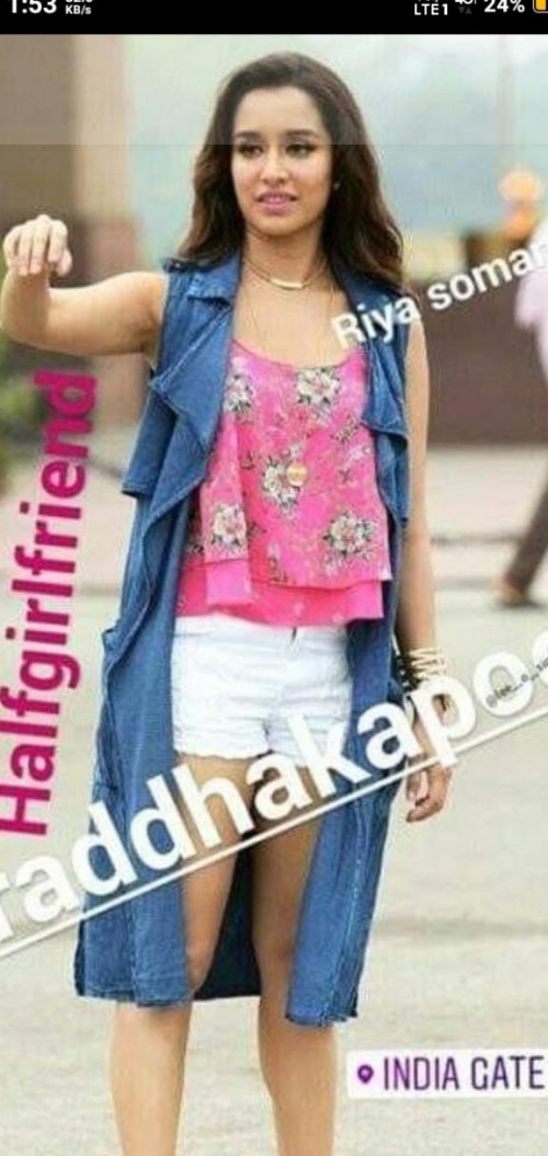 Iam looking for this outfit of shraddha kapoor shrug, top and shorts - SeenIt