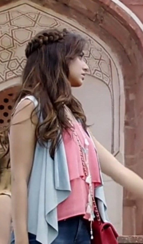 Looking for that blue shrug with unique design and that pink top exactly same which shraddha wore - SeenIt