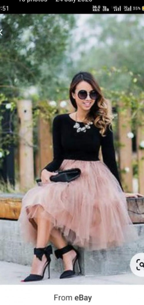 exactly this skirt , tshirt with heels - SeenIt