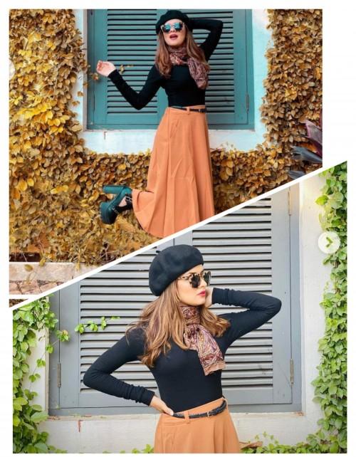 wanted this same dress belt cap shoes shades like avneet Kaur..... - SeenIt