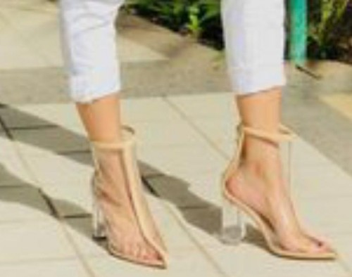 im looking for these transparent glass heels! pls find - SeenIt