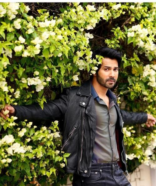 Looking for a similar biker jacket like Varun Dhawan is seen wearing in Coolienumber1 - SeenIt