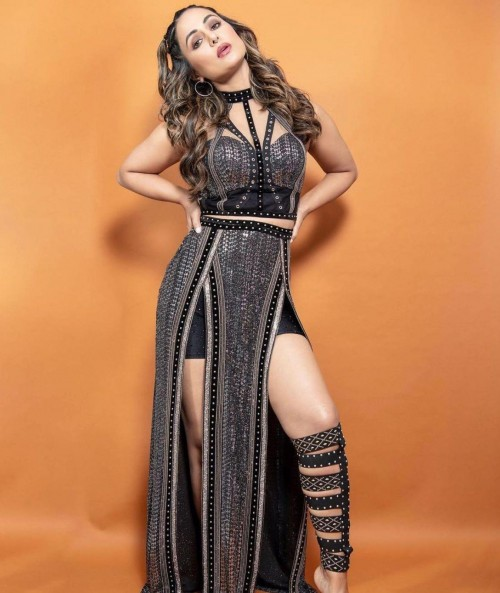 Yay or nay? Hina Khan seen wearing a black outfit with gladiator heels - SeenIt