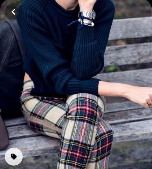 Ditto plaid pants and sweatshirt - SeenIt