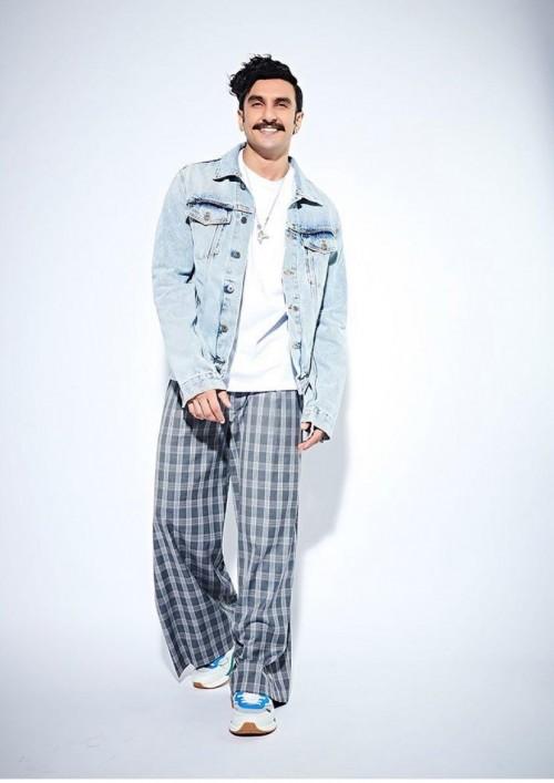 Ranveer Singh's checked pants and denim jacket please - SeenIt