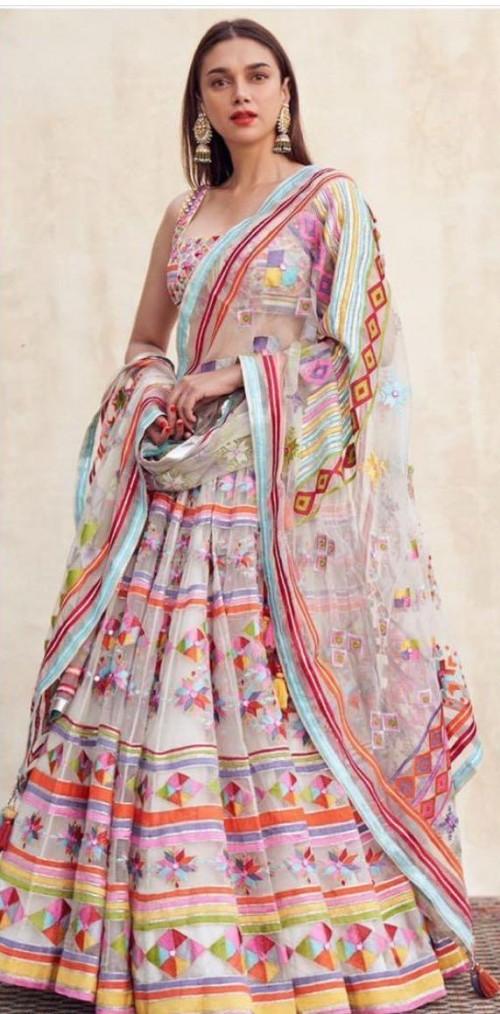 Looking for a similar lehenga attire online like Aditi Rao Hydari is wearing - SeenIt