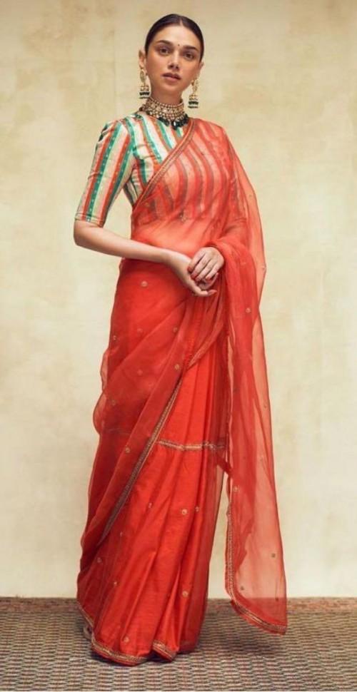 Yay or nay? Aditi Rao Hydari seen wearing a raw mango saree recently - SeenIt