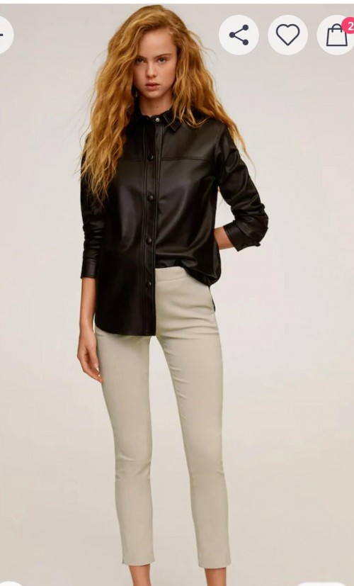 I'm looking for the same leather shirt. - SeenIt