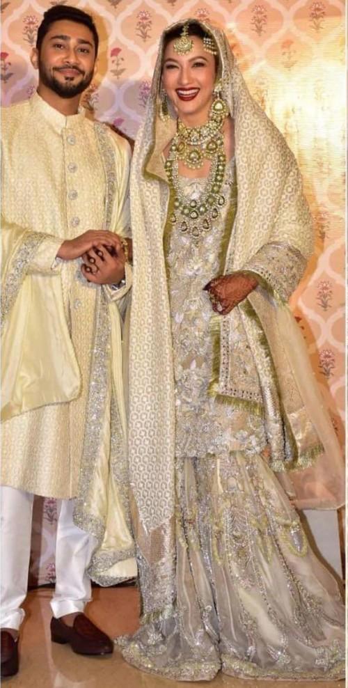 Yay or nay? Gauhar Khan seen wearing a Manish Malhotra sharara outfit at her nikah ceremony - SeenIt