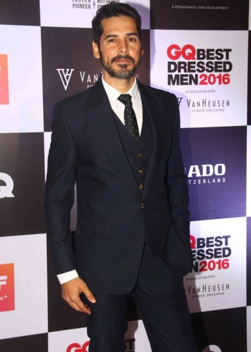 Dino Morea like always looked dashing in a black suit paired with white crisp shirt. - SeenIt
