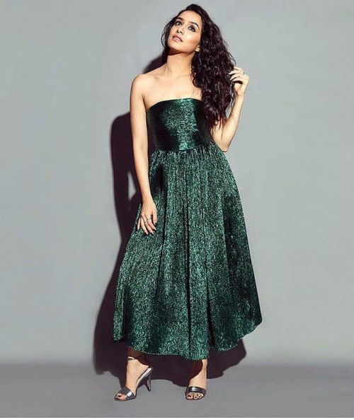 Yay or nay? Shraddha Kapoor seen wearing a strapless shimmer dress - SeenIt