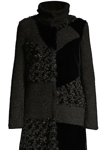 looking for this coat. on saks website its out of stock forever, called donna karan patch work faux fur coat. - SeenIt