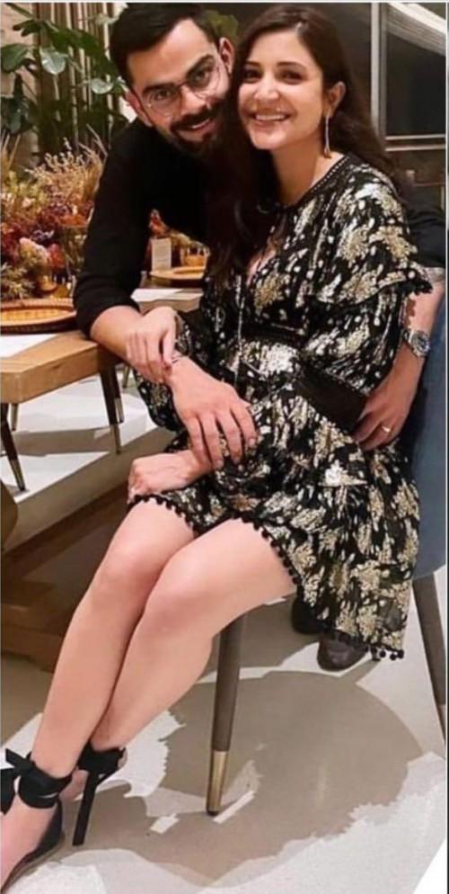 Yay or nay? Anushka Sharma seen wearing a Falguni and shane peacock dress at new years party - SeenIt