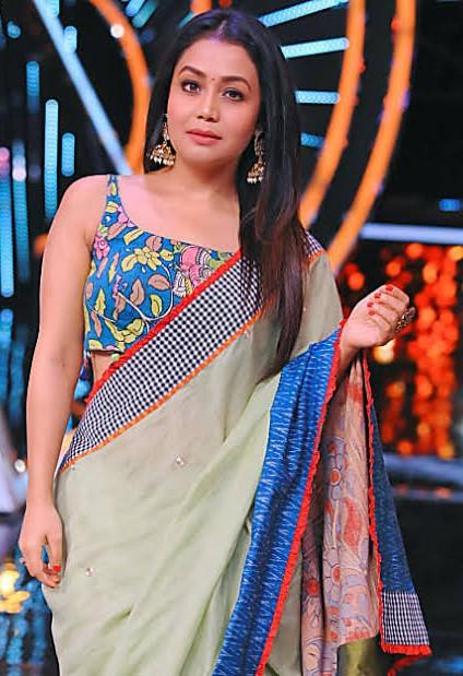 I just want this lovely saree from neha kakkar's look. - SeenIt