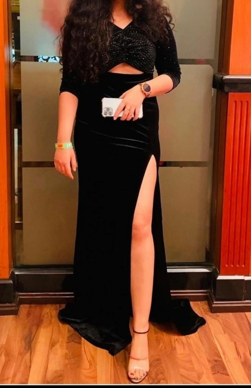 Looking for similar maxi dress with high slit. - SeenIt