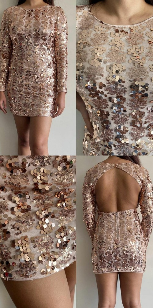 Looking for similar rose gold sequin dress. - SeenIt