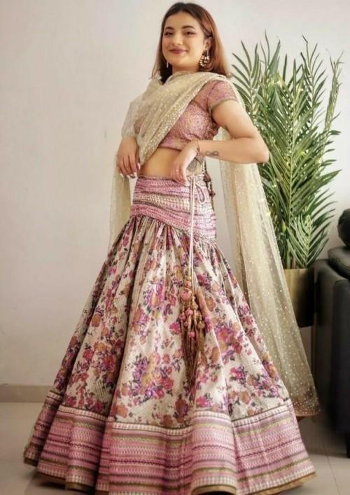 I'm looking for similar lehenga wore by Mrunal Panchal - SeenIt