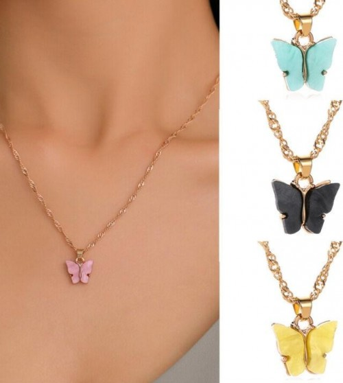 I need these butterfly charm necklaces - SeenIt