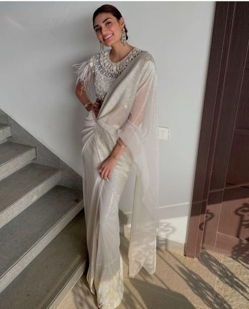 Yay or nay? Athiya Shetty seen wearing a white drape saree outfit - SeenIt