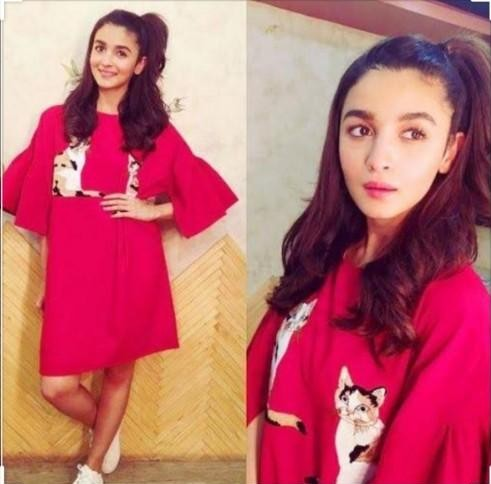 i am looking for the similar red dress as Alia Bhatt - SeenIt