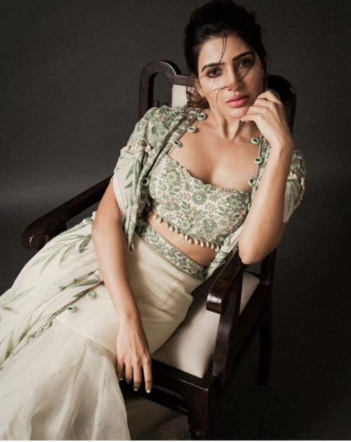 Yay or nay? Samantharuth Prabhu wearing a three piece outfit for the Arpita mehta shoot - SeenIt