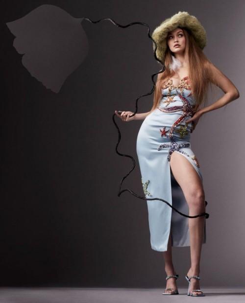 Yay or nay? Gigi Hadid seen wearing a slit midi dress for a shoot - SeenIt