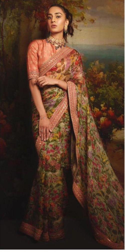 Yay or nay? Erica Fernandez seen wearing a Sabyasachi saree recently - SeenIt