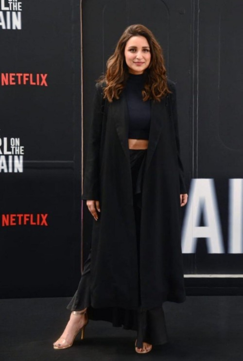 Yay or nay? Parineeti Chopra seen wearing a black cape outfit at the girlonthetrain premiere - SeenIt