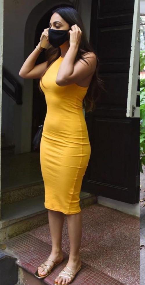 Kiara Advani's yellow bodycon dress please - SeenIt