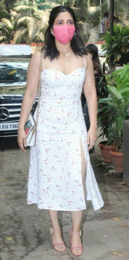 Yay or nay? Bhumi Pednekar seen wearing a white floral print midi slit dress recently - SeenIt