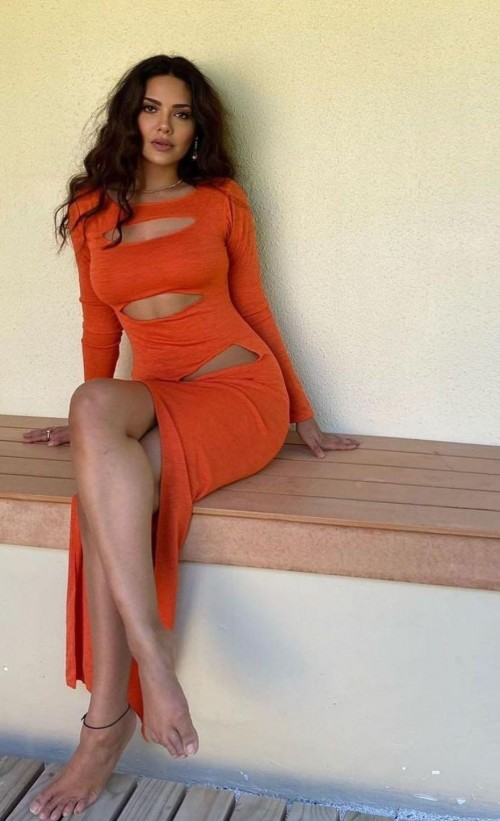 Yay or nay? Esha Gupta seen wearing an orange slit cut out dress recently - SeenIt