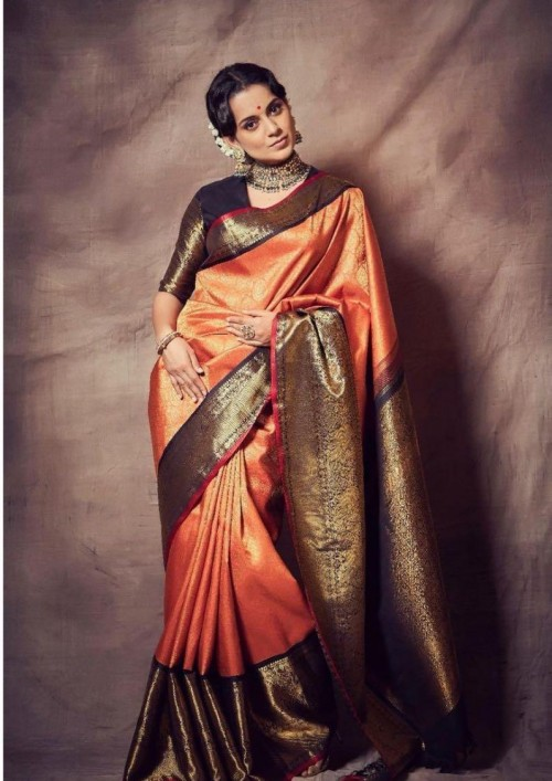 Yay or nay? Kangana Ranaut seen wearing a Madhurya creations saree recently - SeenIt