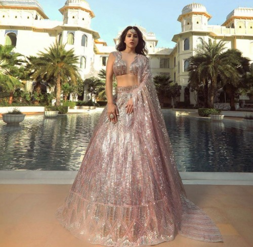 Yay or nay? Sara Ali Khan seen wearing an embellished Manish Malhotra lehenga - SeenIt