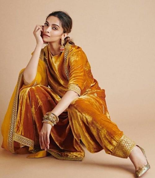 Yay or nay? Deepika Padukone seen wearing a velvet Sabyasachi outfit - SeenIt