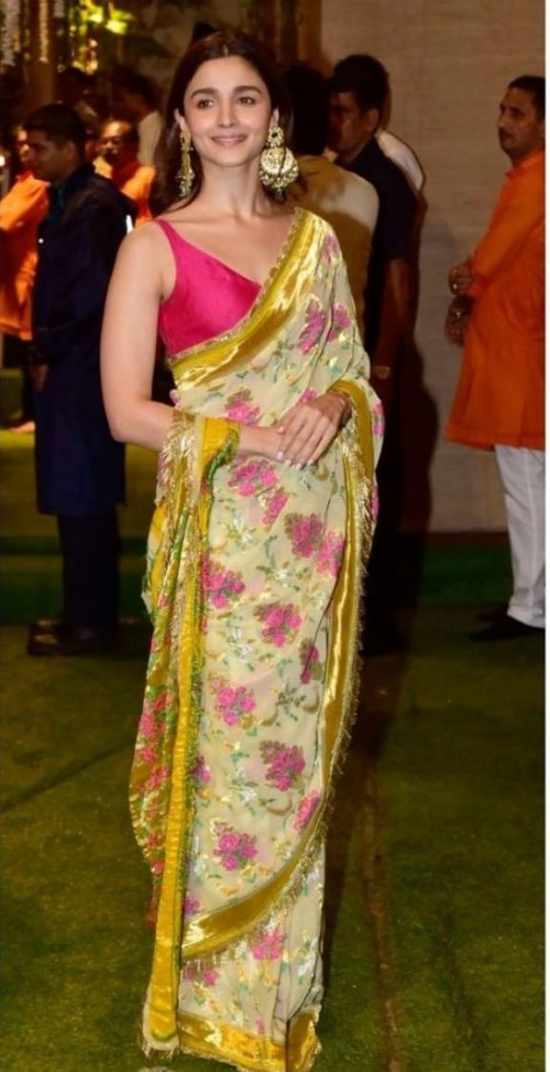 Yay or nay? Alia Bhatt seen wearing a printed saree recently  - SeenIt