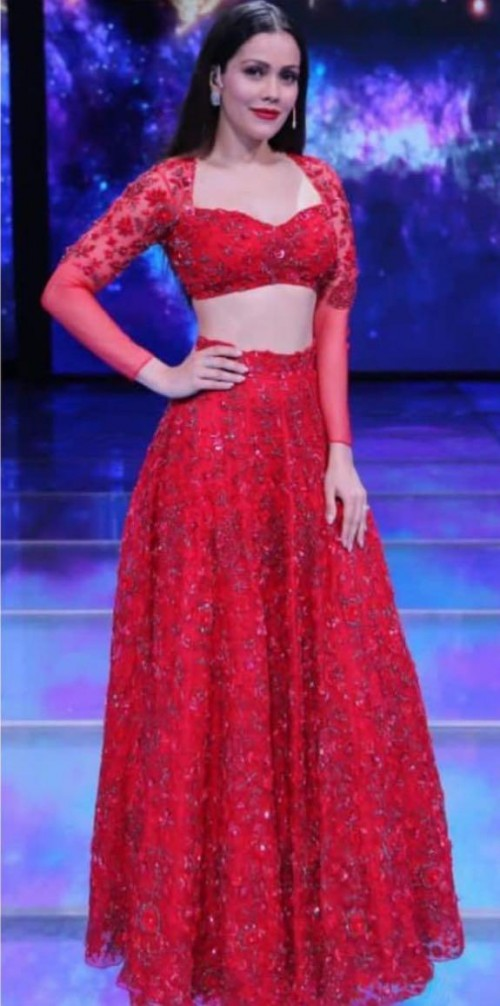 Yay or nay? Waluscha d Souza seen wearing a red embellished outfit recently - SeenIt