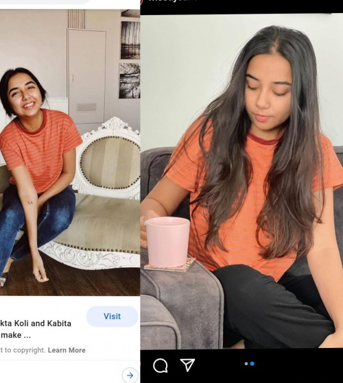 I need to buy exactly same tshirt as Prajakta koli wearing.but I couldn't it anywhere - SeenIt