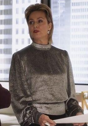 similar silver metallic top that Jacqueline is wearing from the bold type - SeenIt