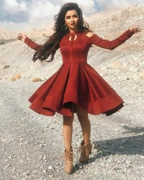 I'm looking for a similar red dress with cutouts like avneet kaur - SeenIt