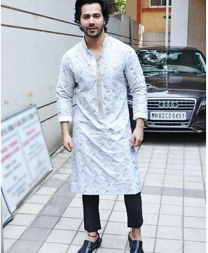 White kurta which varun dhawan is wearing - SeenIt