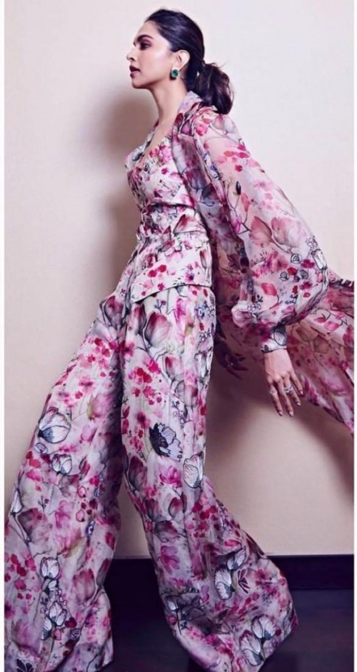 Help me look for a similar pink floral attire online - SeenIt
