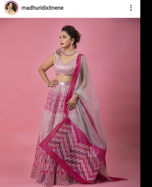 Looking for this pink lehenga worn by Madhuri Dixit - SeenIt